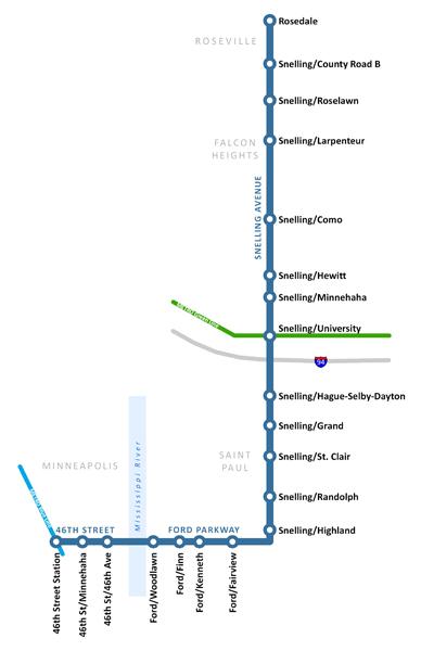 A Line BRT route