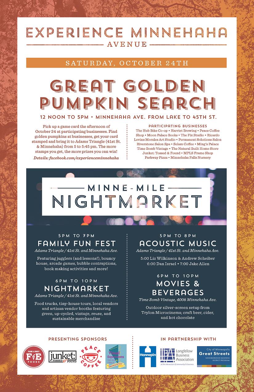 Experience Minnehaha October 24 event flyer