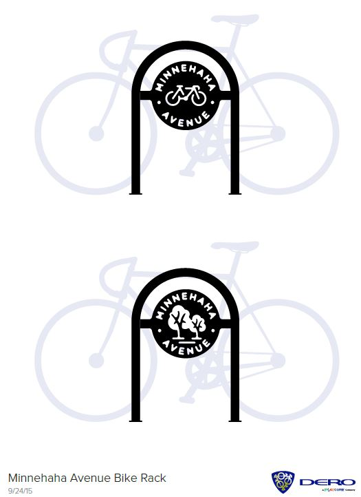 Minnehaha Ave Bike Racks