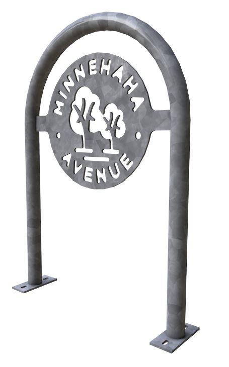 Minnehaha trees bike rack