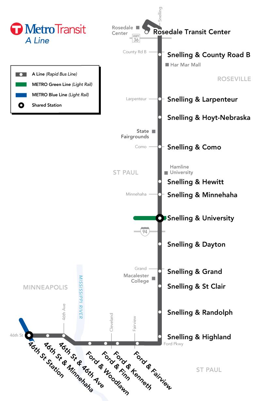 A Line Bus Route